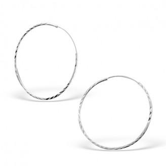 """Stříbrné kruhové náušnice """"Jennifer"""". 1,2x40. Ag 925/1000"""